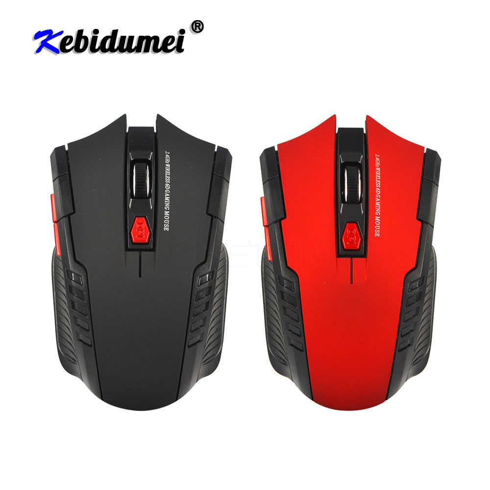 Kebidumei 2.4Ghz Mini Portable Wireless Mouse USB Optical 2000DPI Disesuaikan Permainan Profesional Gaming Mouse Mouse Untuk PC Laptop