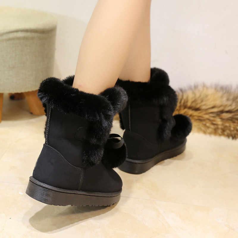 Kaliteli Kadın Çizmeler Yuvarlak Ayak Iplik Elastik yarım çizmeler Kalın Topuk Düz Topuklu Ayakkabılar Kadın Kadın Çorap Botları 2019 Kış