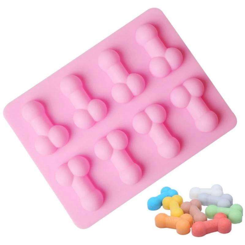Penis Silicone Fondant Mould Ice Cube Cake Decorating Baking DIY Trays Mold Tool