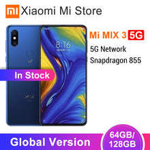 "Global Version Xiaomi Mi Mix 3 5G Network Smartphone 6GB 64GB/128GB Snapdragon 855 6.39"" Slider Screen 24MP Front Camera QC 4.0(China)"