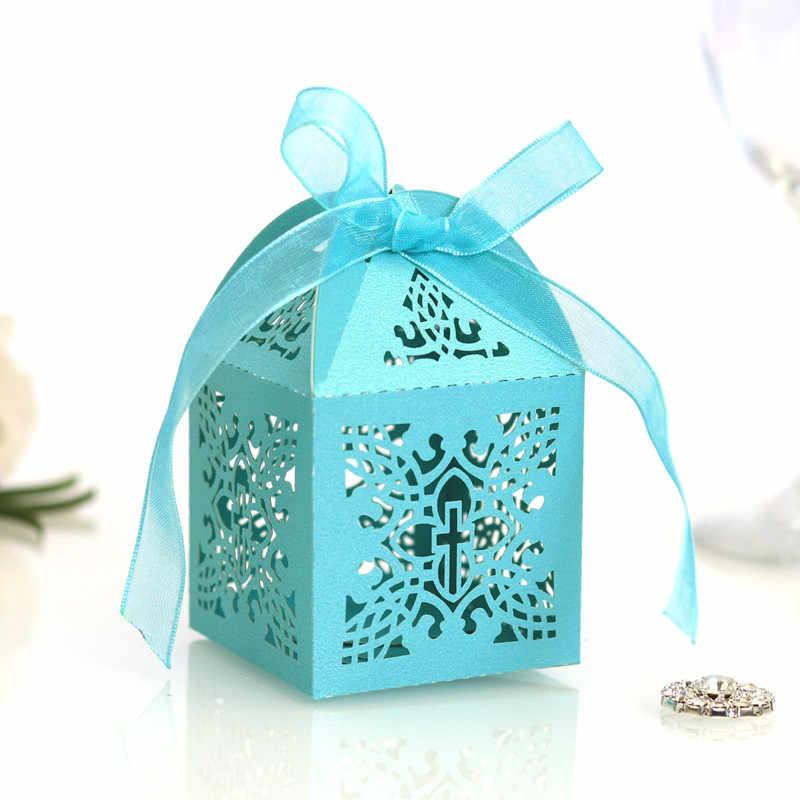 10 pièces croix bonbons dragée boîtes ange cadeau boîte pour bébé douche baptême anniversaire première Communion baptême décoration de pâques