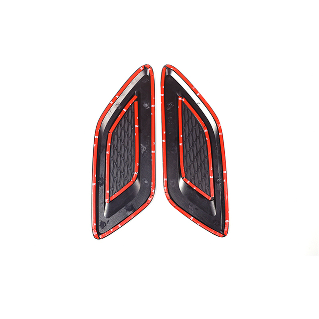 A Pair Car Exterior Hood Air Vent Outlet Wing Cover Trim for Land Rover Range Rover Evoque 2012-2018 Car Styling Accessories 5