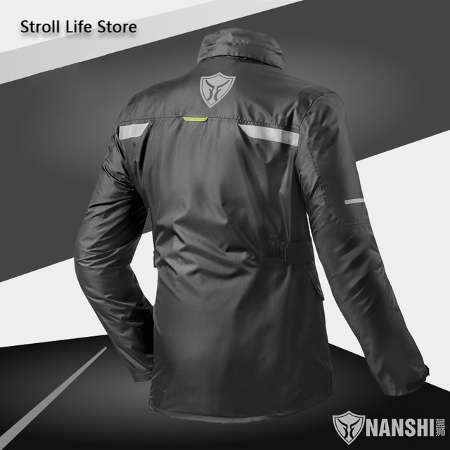 Double Layer Waterproof Rain Coat Pants Set Breathable Reflective Motorcycle Raincoat Riding Men and Women Split Thick Gift 1