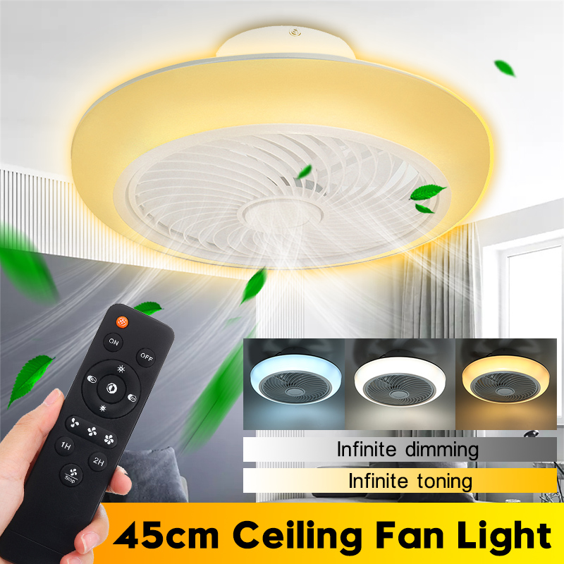 110v/220v Smart Ceiling Fan With Light Remote Control Bedroom Decor Ventilator Lamp 45cm Air Invisibles Blade Retractable Silent Spare No Cost At Any Cost
