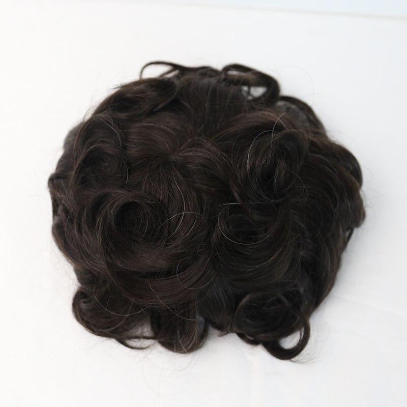 Парик для волос мужские человеческие волосы натуральный вид 100% европейские волосы парик ПУ заменить Мужские t системы 210 # цвет VenVee remy волосы