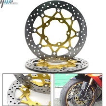 Motorcycle Stainles Steel Front Floating Brake Disc Rotors For SUZUKI GSXR600 GSXR750 GSX-R GSX R 600 750 2006-2010 2009 2008 07 motorcycle fairings for suzuki gsxr gsx r 600 750 gsxr600 gsxr750 2008 2009 2010 k8 abs plastic injection fairing bodywok kit sw