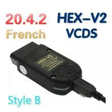 2021 popolar vcds hex v2 interface vagcom 20.4.2 vag com 20.12 para vw para audi skoda seat vag 21.3 francês polonês alemão