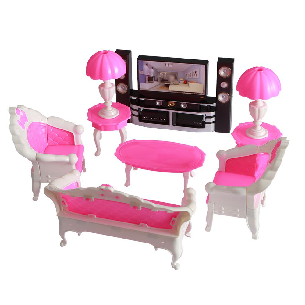 GloryStar Dolls Accessories Pretend Play Furniture Set Toys Dolls As Xmas Gifts For Kids
