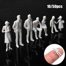 10/50 pçs 1:50/75/100/150/200 modelo branco figuras em miniatura modelo arquitetônico decoração diy escala humana modelo de plástico povos