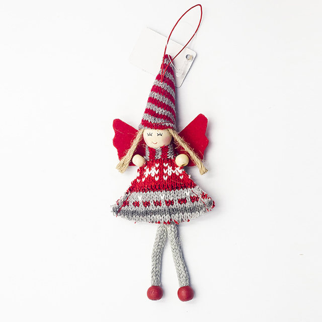 1pcs Angel Doll Pendants Christmas Hanging Ornaments Small Gift for New Year Xmas Party Decoration Baubles SA146 19