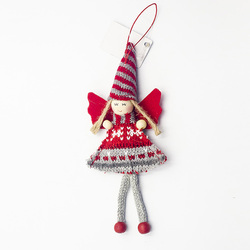 1pcs Angel Doll Pendants Christmas Hanging Ornaments Small Gift for New Year Xmas Party Decoration Baubles SA146 4