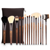 Spot 15 makeup brush set black walnut handle nylon hair makeup set