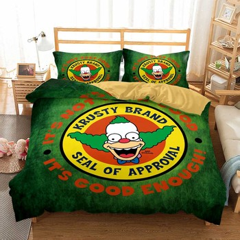Custom Dropshipping Microfiber Duvet Cover Set 2/3 Piece Simpson Cartoon Kids Boys Single Home DoubleBed Linen Set Pillowcase 2