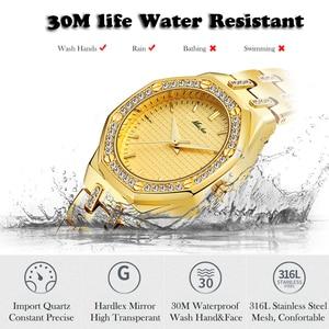 Image 4 - MISSFOX Fashion Watches Womens Expensive 18K Gold Ladies Wrist Watch Women Quartz Classic Analog Diamond Jewelry Hand Watch