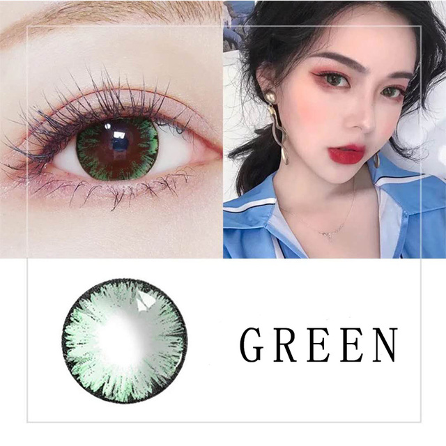 Beautiful Pupil Color Contact Lenses Monthly Throw Female Path 14.5mm Cute Multicolor Party Gift Cartoon Girl Decoration Cosplay 2