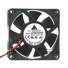 Original for delta AFB0724VH 7025 24V 0.33A 7CM cm inverter double ball cooling fan new original dv6224 2 24v original plug inverter fan 55kw 75 90kw
