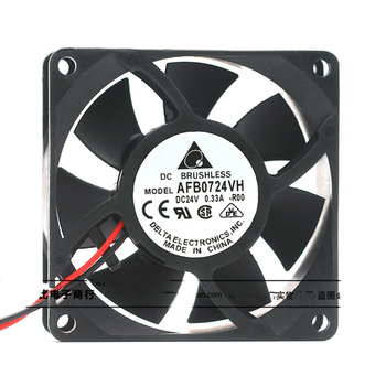 Original for delta AFB0724VH 7025 24V 0.33A 7CM cm inverter double ball cooling fan f6025e24b 6cn 24v 0 125a mechatronics 3 wire double ball inverter fan