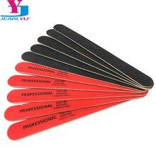 Высокое качество, 10 шт./партия пилочка для ногтей, буферный блок, деревообрабатывающие пилочки для ногтей, 100/180, двухсторонние, красные и черные, Lima Unhas, инструменты для ногтей