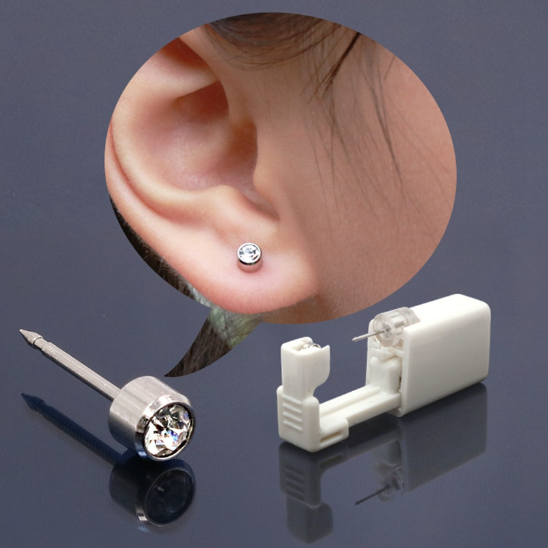 Disposable Ear Drilling Unit Sterile Cartilage Tray Helix Piercing Gun Tool Kit