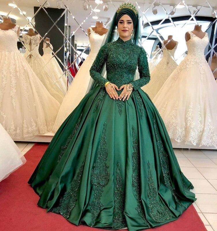 2019-arabic-aso-ebi-muslim-hunter-green-lace-beaded-wedding-dresses-high-neck-bridal-dresses-long-sleeves-wedding-gowns-zj422 (4)_副本