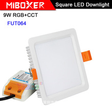 Miboxer 9W RGB+CCT LED Downlight FUT064 AC 100V-240V Square Brightness adjustable LED Ceiling Spotlight