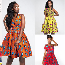 African Dresses For Women Print Clothing Dashiki Dress Long 2019 New