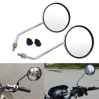 For BMW F650GS F700GS f 650 700 gs f650 f700gs S1000R Motorcycle rearview mirror round mirror motorcycle long stem accessories|Side Mirrors & Accessories| |  -