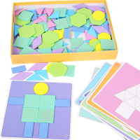 190Pcs/Set Kids Wooden Jigsaw Puzzle Games Color Cognition Educational Toys