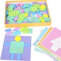 190Pcs/Set Kids Wooden Jigsaw Puzzle Games Color Cognition Educational Toys