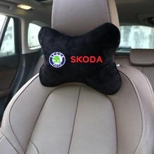 Ceintures de siège de voiture, Protection des épaules, coussin de cou, doux, pour skoda octavia fabia rapid yeti kodiaqsuperbe