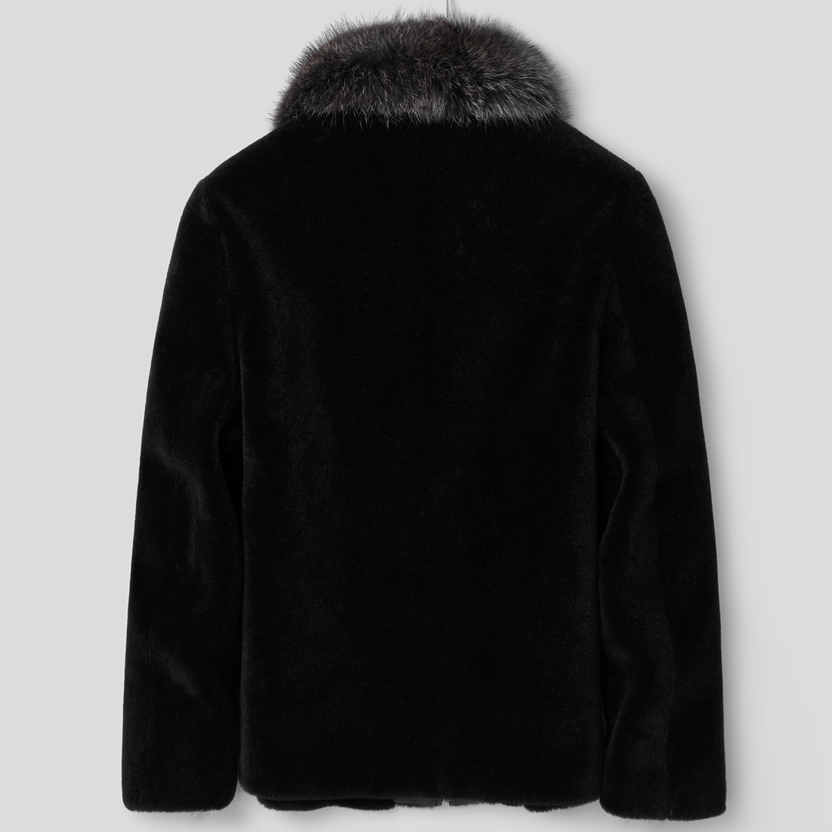 100%Wool Coat Winter Jacket Men Real Sheep Shearling Fur Coat Raccoon Fur Collar Short Jacket LSY088305 MY1385