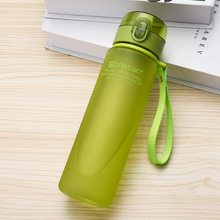 Water Bottle 400ml 560ml Plastic Gourde en Plastique Sport Direct Drinking Shaker Bottles Hiking Portable Bottle For Water(China)