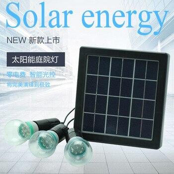 Una arrastre tres con iluminación solar pequeñas luces de emergencia de energía solar de interior lámparas LED de ahorro de energía línea de 5 metros