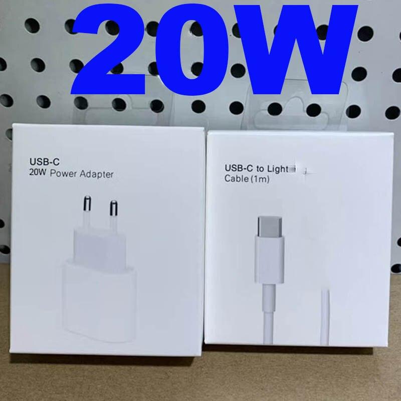 Chargeur dorigine 20W pour iPhone 12 Pro Max Mini USB-C C2L 20W chargeur rapide USB C adaptateur secteur Type C QC4.0 pour câble Apple 11