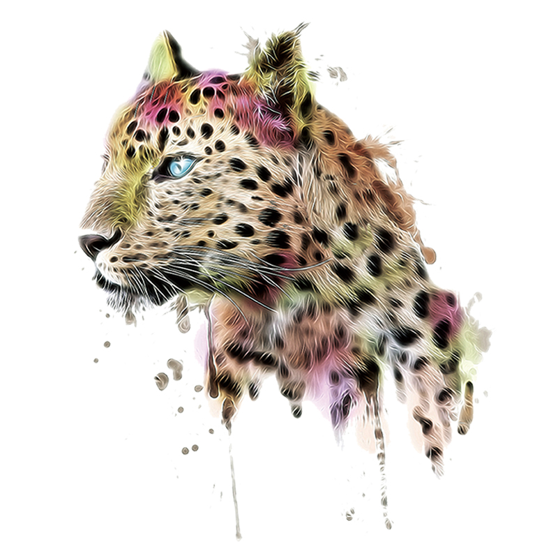 Leopard Head Patches Transfer Iron On Parches DIY Washable Clothes Stickers UK