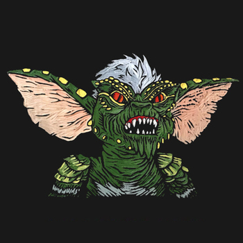 Gremlins Stripe Creepy Lapel Pin Tribute to the 80s horror cult movie image