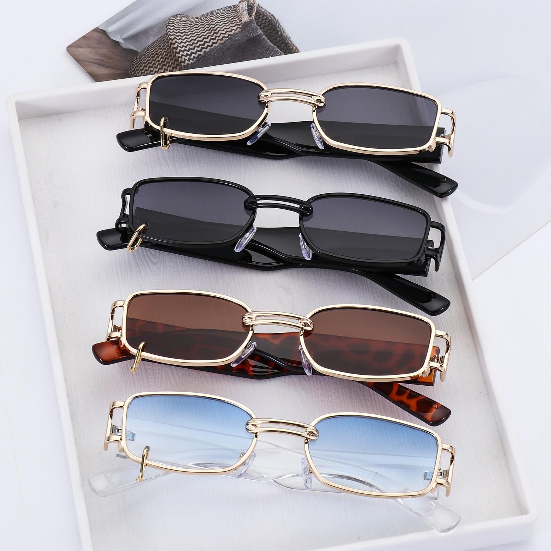 Модные популярные прямоугольные солнцезащитные очки в стиле панк, женские модные солнцезащитные очки с защитой UV400, брендовые дизайнерские...