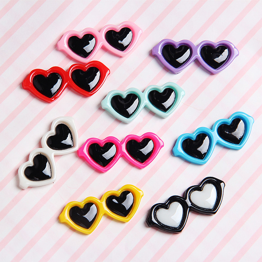 Pet Lovely Heart Sunglasses Hairpins Pet Dog Bows Hair Clips for Puppy Dogs Cat Yorkie Teddy Pet Hair Decor Pet Supplies
