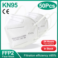 50PCS White FFP2