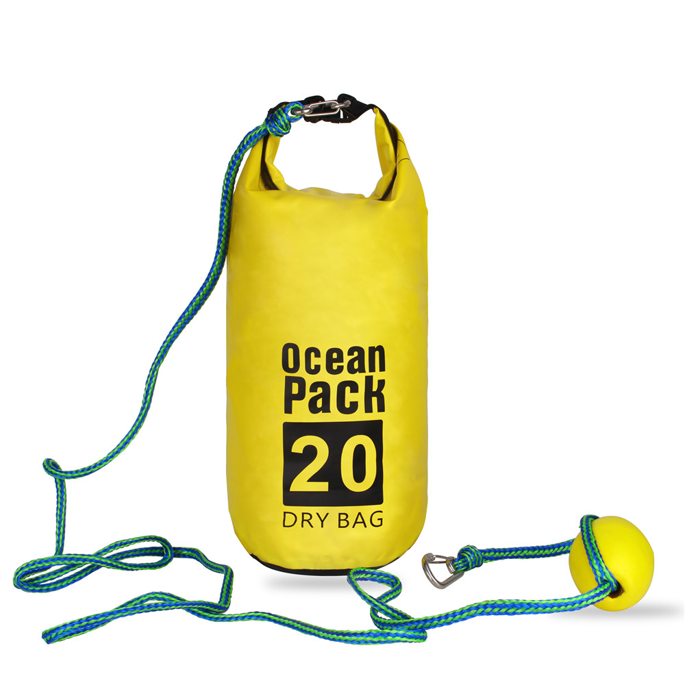 Tow Rope Sand Sack 2-in-1 Sand Anchor & Waterproof Dry Bag Dock Line For Kayak, Jet Ski, Rowing, Small Boats