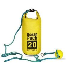 Corde de remorquage et sac de sable 2 en 1, ancre de sable et ligne d'amarrage de sac sec étanche pour Kayak, Jet Ski, petits bateaux à rames