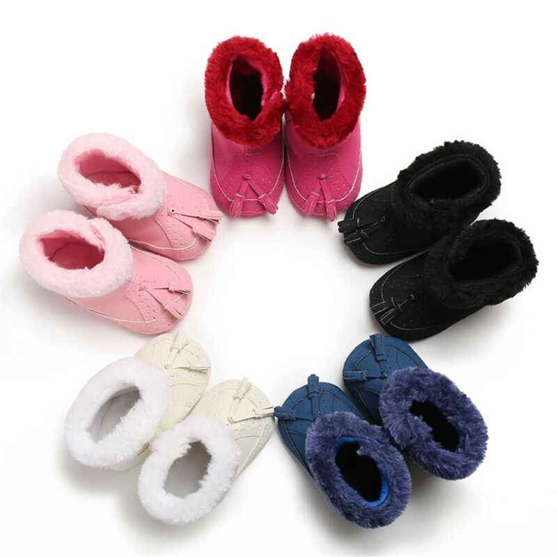 Mode Neugeborenen Booties Infant Baby Kleinkind Warme Stiefel Kinder Jungen Mädchen Winter Schnee Pelz Schuhe Kleinkind Jungen Mädchen Booties 0 -18M