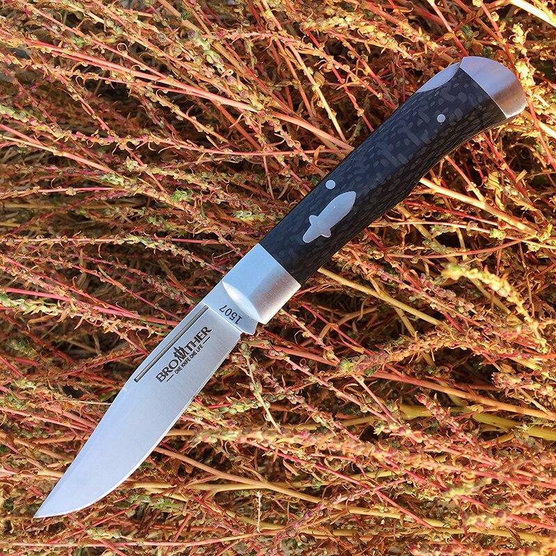 [Brother 1507] 60HRC couteau de poche couteaux pliants traditionnels modernes VG10 acier fibre de carbone dossier tactique EDC outil collection