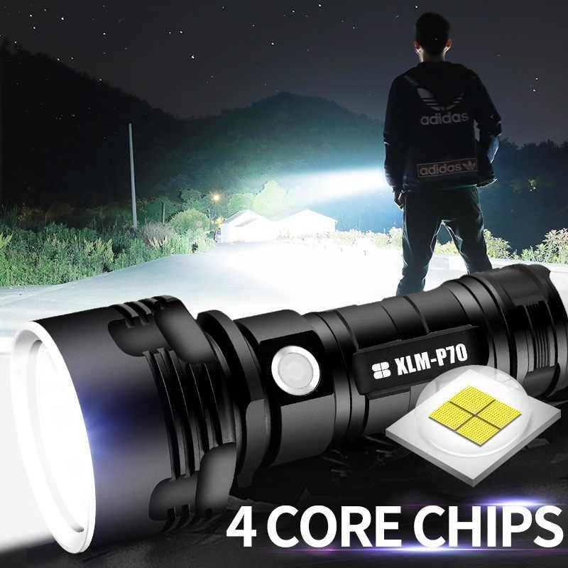 Super poderosa lanterna led l2 xhp50 tocha tática usb recarregável linterna lâmpada à prova dl2 água ultra brilhante lanterna de acampamento