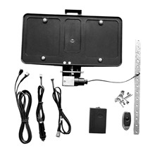 Flip Stealth License Plate Frame with Remote Control Holder Rust Proof