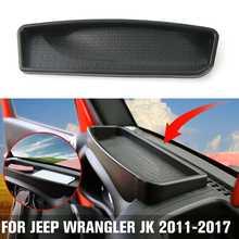 Новый органайзер для хранения передней приборной панели, чехол из АБС-пластика, чехол для хранения и поддержания порядка для Jeep for Wrangler JK ...