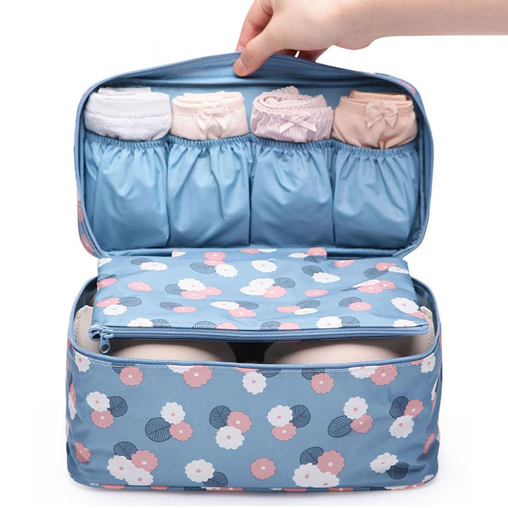 Color Version Multi function Underwear Bra Storage Bag Makeup Finishing Organizer Case For Cosmetics Toiletries For Home Travel|Drawer Organizers| |  - title=
