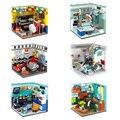 Городской домашний художник, музыкант, учёный, д-р астроном, драйвер, модель комнаты, наборы строительных блоков, кубики MOC, детские игрушки «...