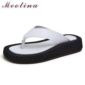 Meotina Flip Flops Real Leathe