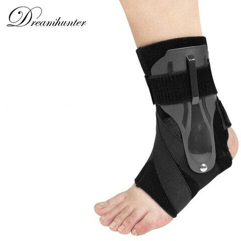 Suporte de Tornozelo Ajustável Cinta Esportes Estabilizador Compressão Tornozelo Bandagem Correias Voleibol Basquete Futebol Protetor pé